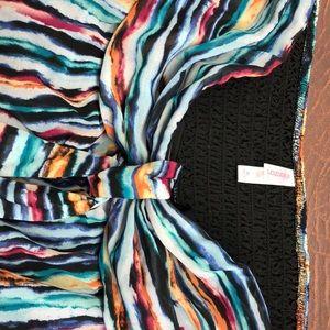 Floor length 1x halter or strapless dress
